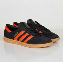 Кроссовки Adidas Hamburg Black Orange Z