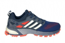Кроссовки Adidas Marathon Flyknit Blue синие Red