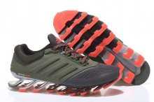 Кроссовки Adidas SpingBlade Dark Green Red Grey