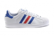 Кроссовки Adidas Superstar White Blue Red