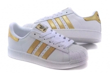 Кроссовки Adidas Superstar White Gold
