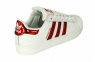 Кроссовки Adidas Superstar White Red V