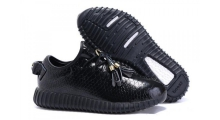 Кроссовки Adidas Yeezy Boost 350 Black Leather