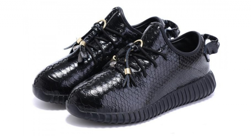 check out 29389 78c6a Кроссовки Adidas Yeezy Boost 350 Black Leather