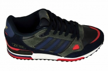 Кроссовки Adidas ZX750 Black Blue Red