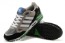 Кроссовки Adidas ZX750 замшевые Grey Black Green